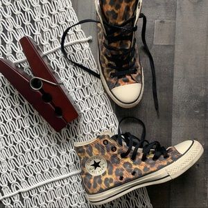 Chuck Taylor Converse Leopard High Top Sneakers